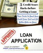 credit score hacks get a loan