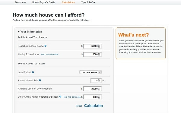 bad credit home loans calculator