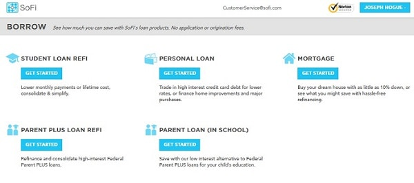sofi personal loan application process site