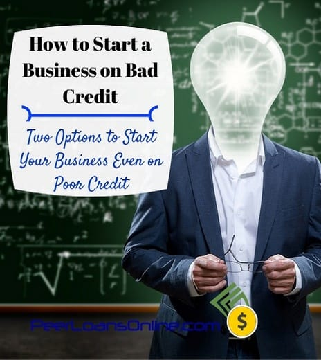 start a business bad credit
