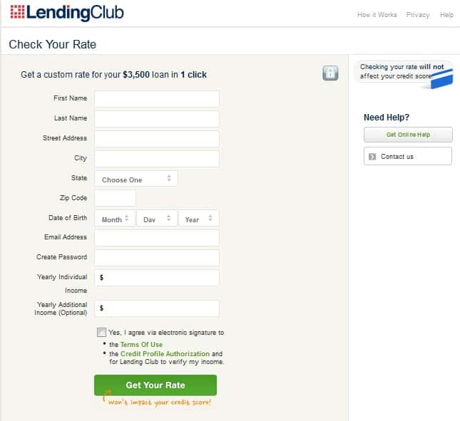 bad credit p2p loan application process
