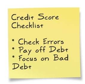 fix your credit score checklist