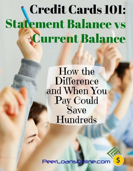 difference between statement balance and current balance