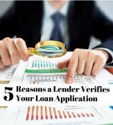 do lenders verify loan application
