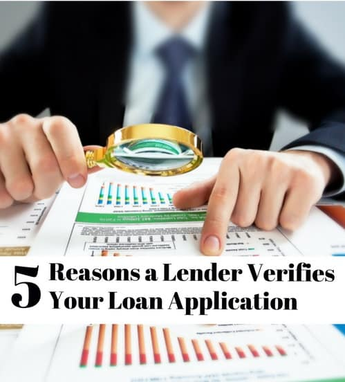 do lenders verify loan application
