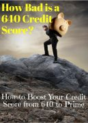 How Your 640 Credit Score is Holding You Back