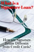 Know Your Options: What is a Signature Loan?