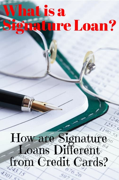 what is a signature loan bad credit