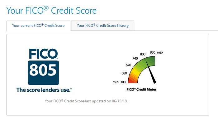 my 800 fico score